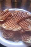 waffles cooked in the waffle maker